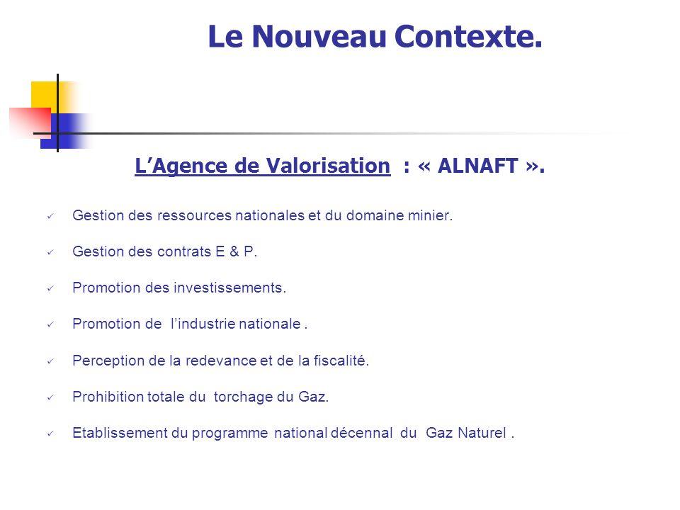 Le Nouveau Contexte. L'Agence de Valorisation : « ALNAFT ».