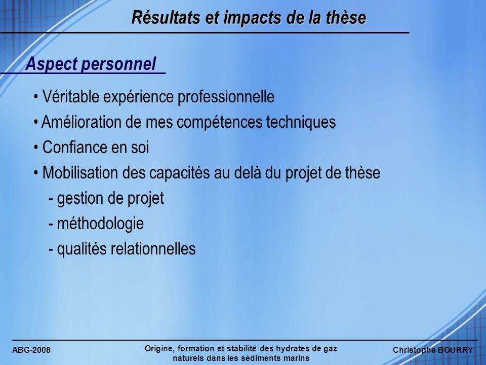 Résultats et impacts de la thèse