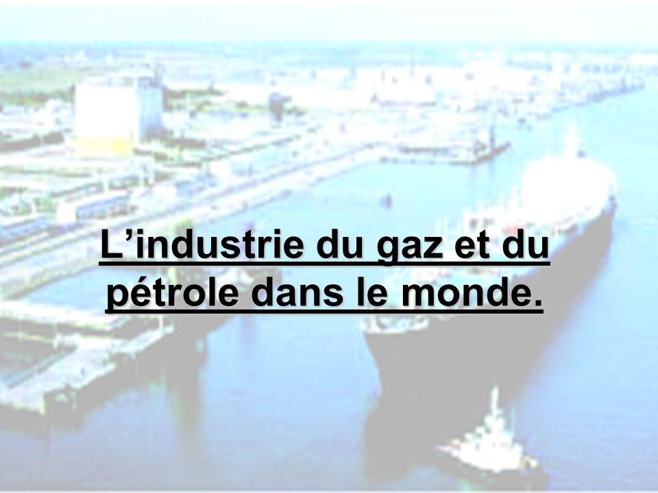 L'industrie du gaz et du pétrole dans le monde.