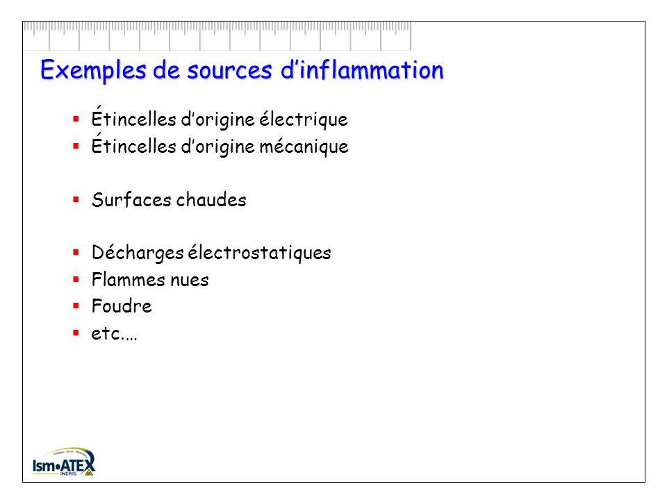Exemples de sources d'inflammation