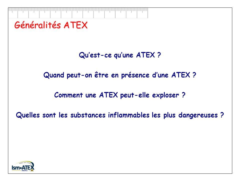 Généralités ATEX Qu'est-ce qu'une ATEX