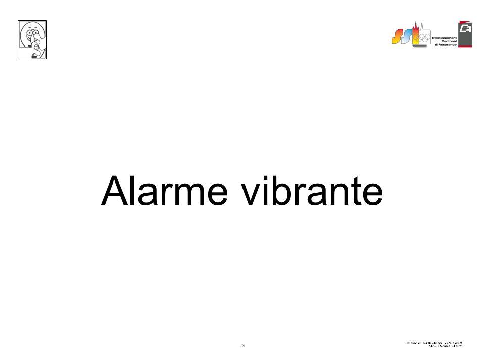 Alarme vibrante