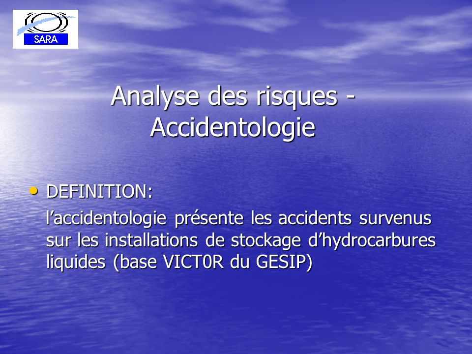 Analyse des risques - Accidentologie