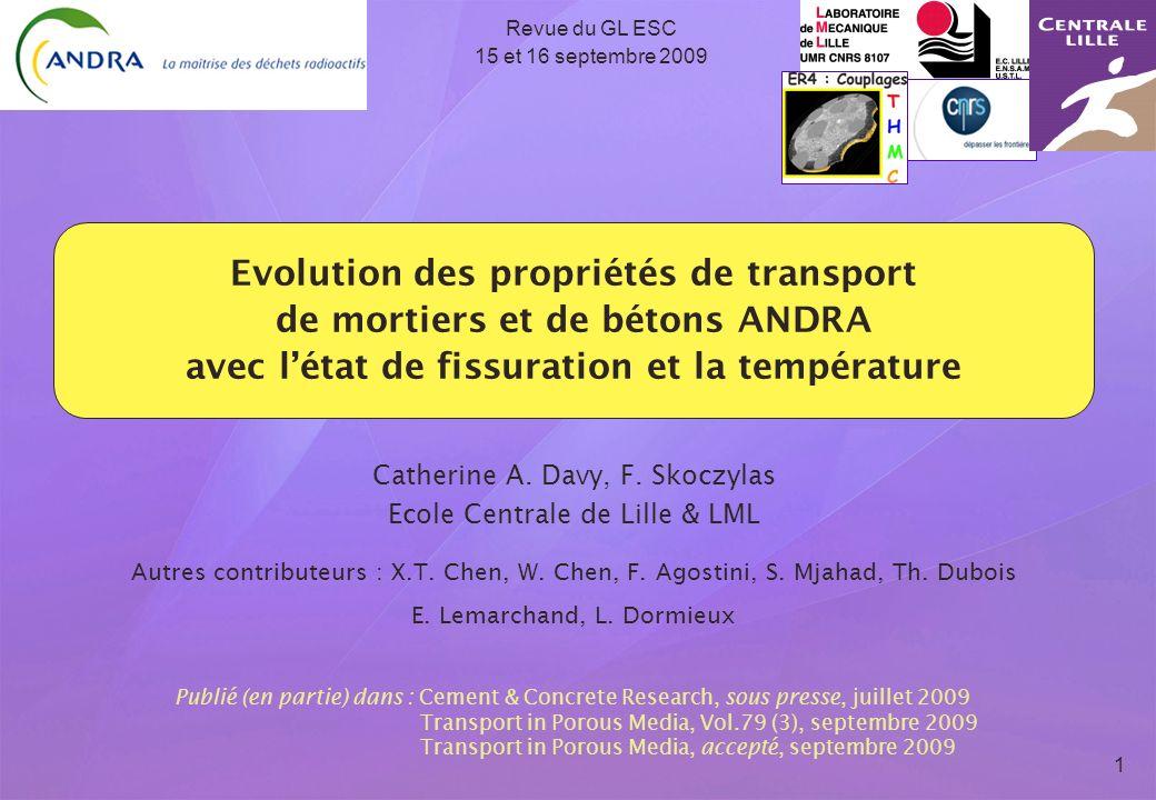 Revue du GL ESC 15 et 16 septembre 2009.