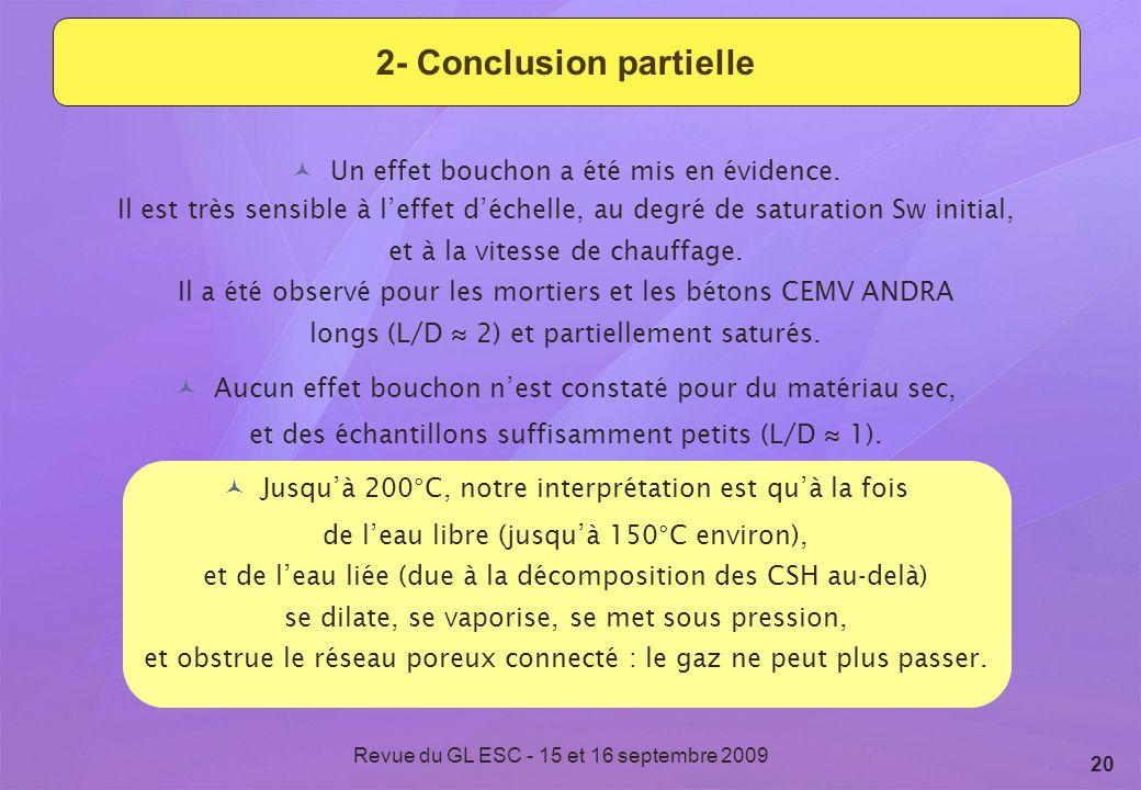 2- Conclusion partielle