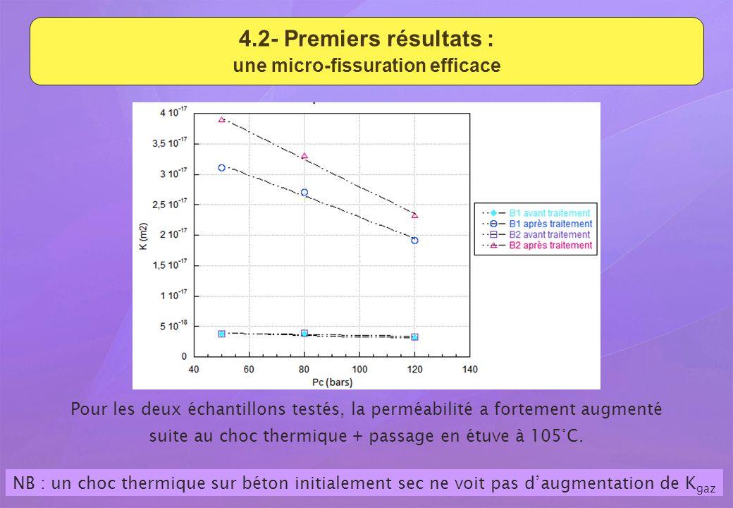 4.2- Premiers résultats : une micro-fissuration efficace