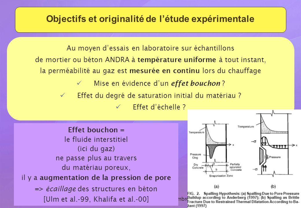 Objectifs et originalité de l'étude expérimentale