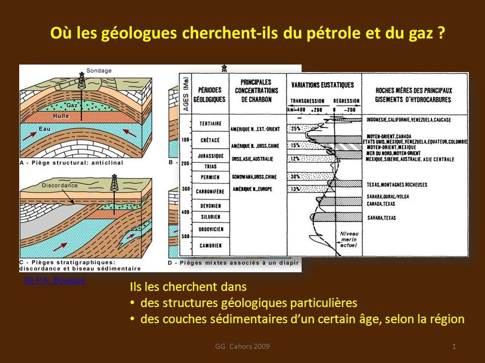 Où les géologues cherchent-ils du pétrole et du gaz