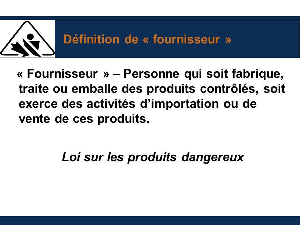 Loi sur les produits dangereux