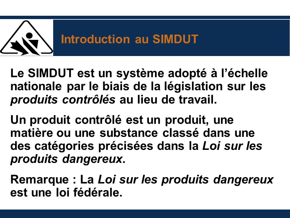 Introduction au SIMDUT