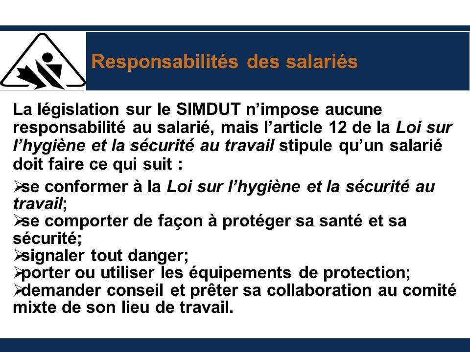 Responsabilités des salariés