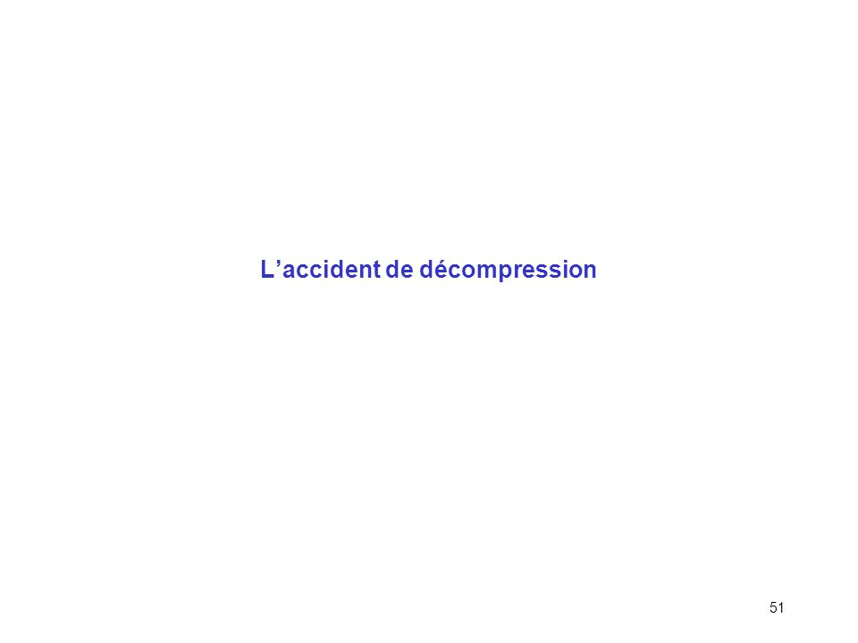 L'accident de décompression