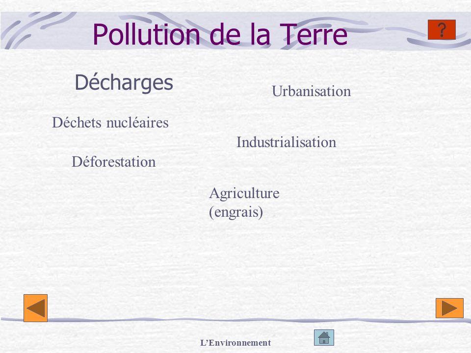 Pollution de la Terre Décharges Urbanisation Déchets nucléaires