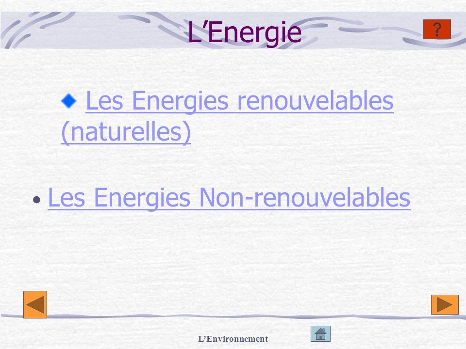 Les Energies renouvelables (naturelles)