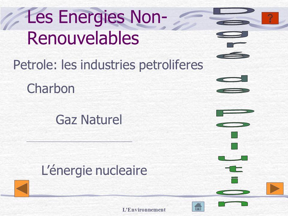 Les Energies Non- Renouvelables