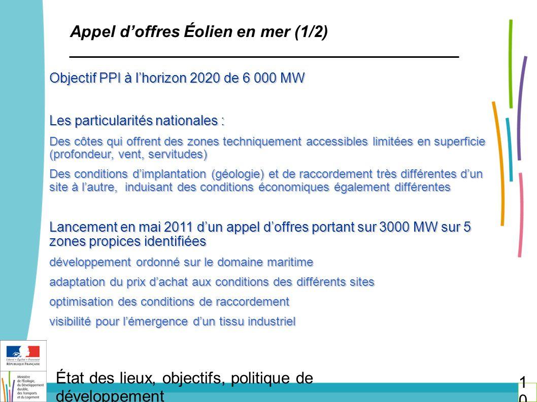 Appel d'offres Éolien en mer (1/2)