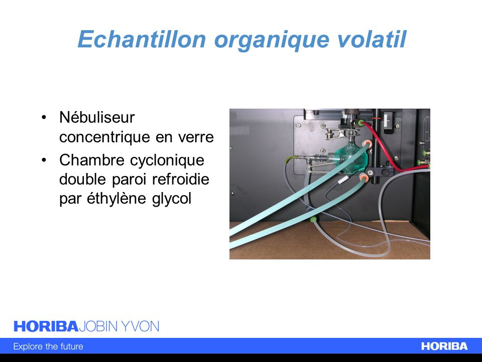 Echantillon organique volatil