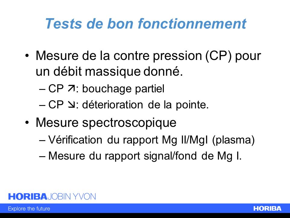 Tests de bon fonctionnement