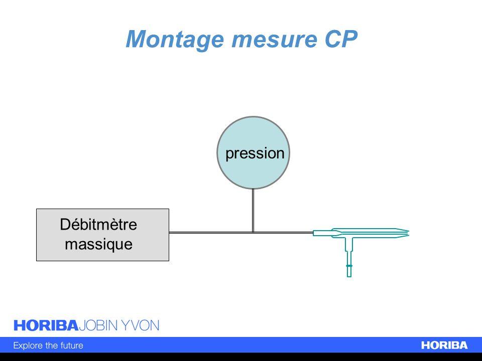 Montage mesure CP pression Débitmètre massique