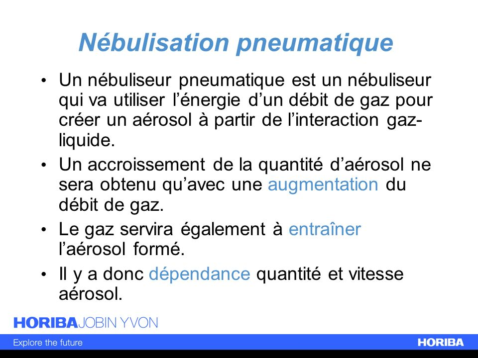 Nébulisation pneumatique