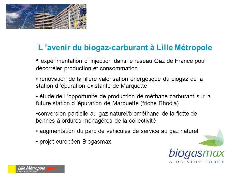 L 'avenir du biogaz-carburant à Lille Métropole