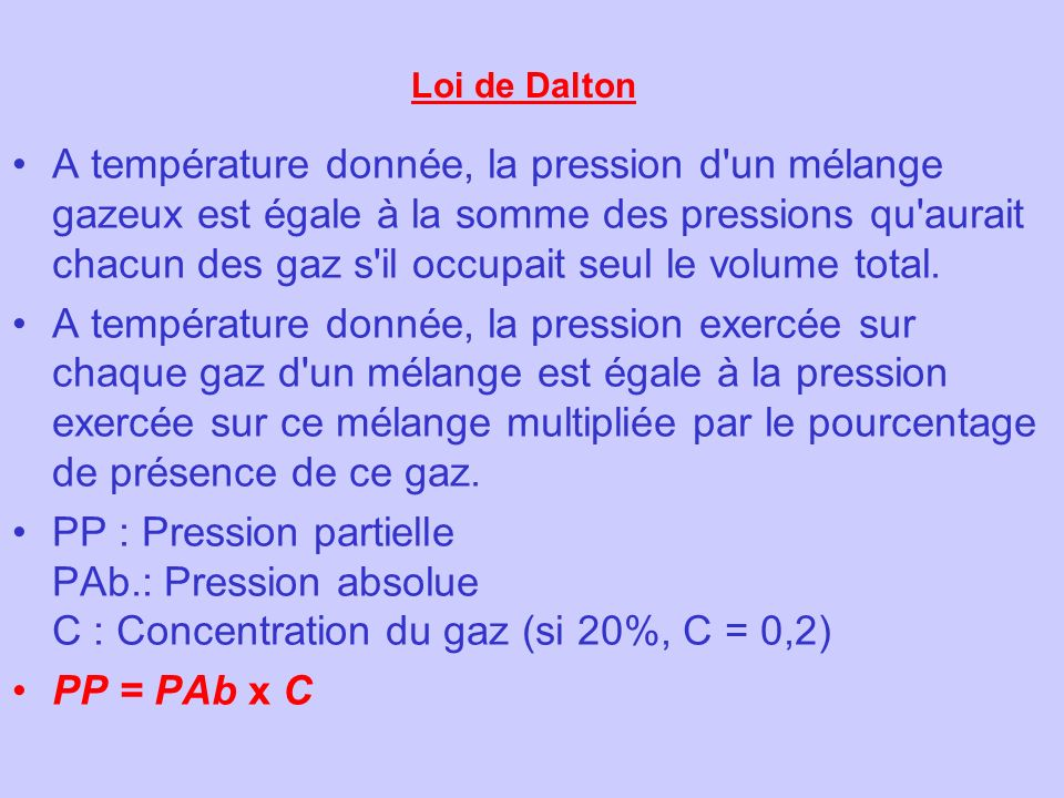 Loi de Dalton