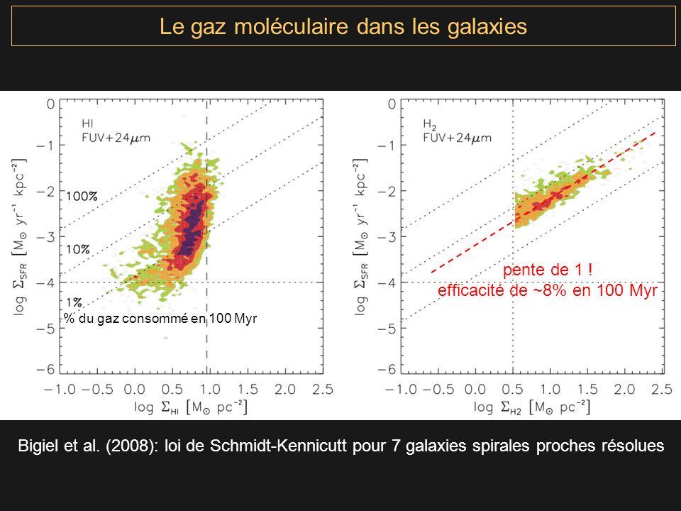 Le gaz moléculaire dans les galaxies