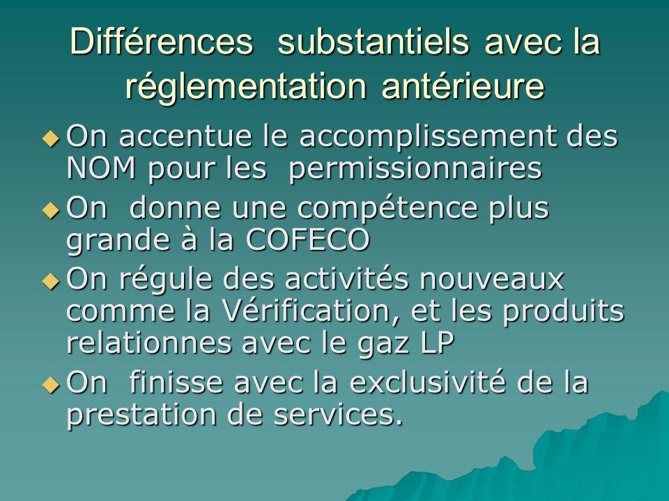 Différences substantiels avec la réglementation antérieure