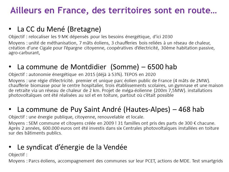 Ailleurs en France, des territoires sont en route…