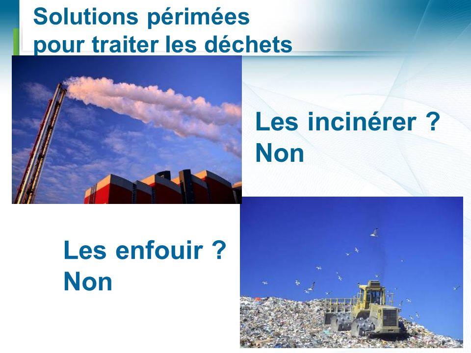 Solutions périmées pour traiter les déchets