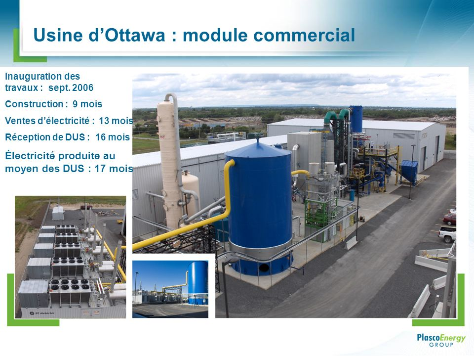 Usine d'Ottawa : module commercial