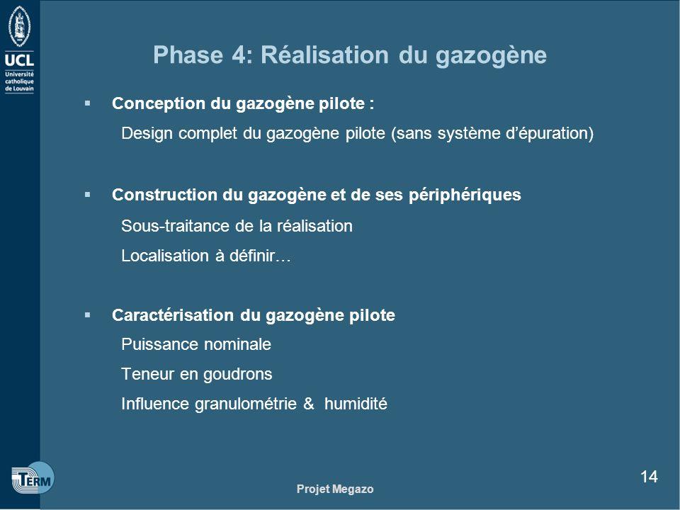 Phase 4: Réalisation du gazogène