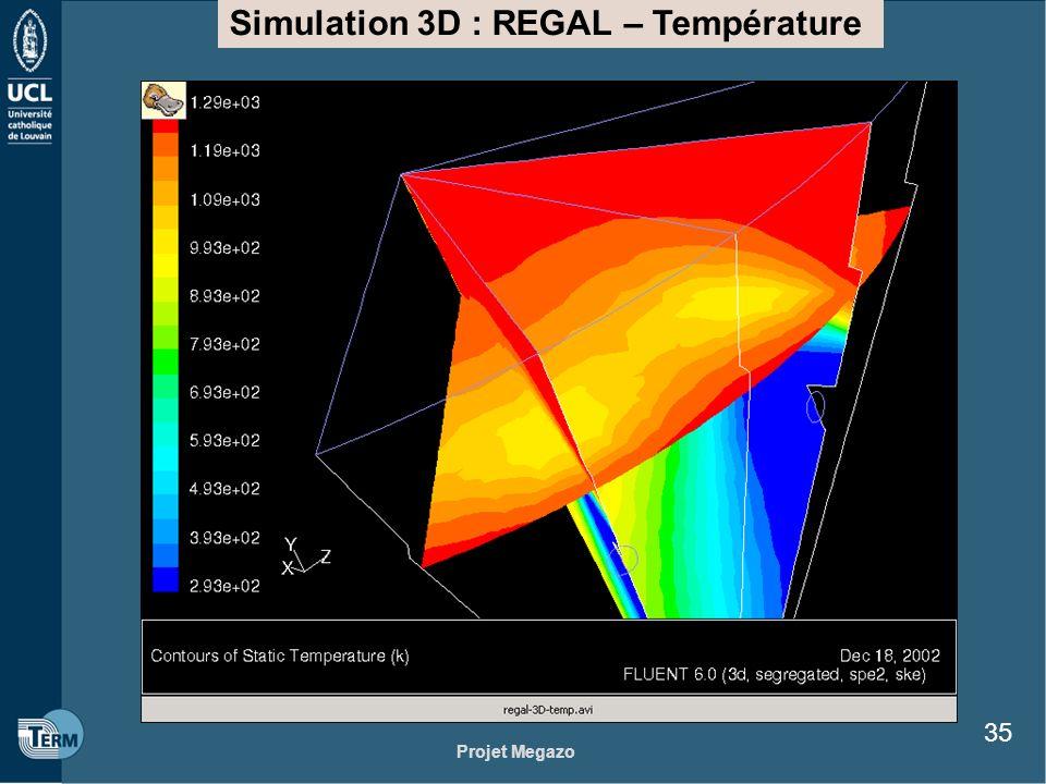 Simulation 3D : REGAL – Température