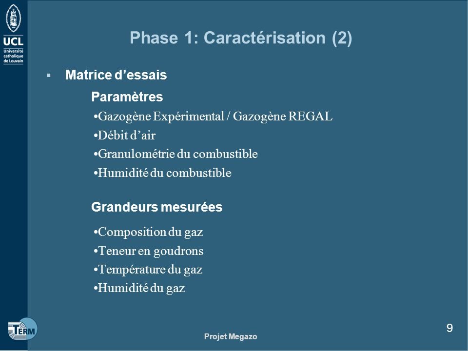 Phase 1: Caractérisation (2)