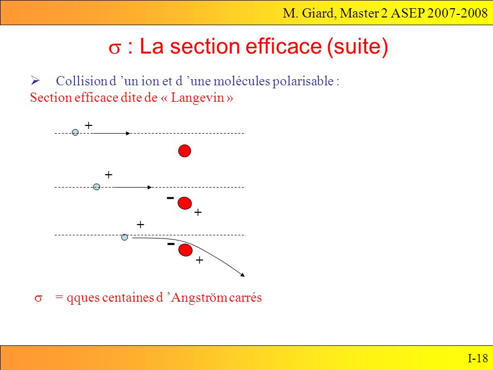 s : La section efficace (suite)