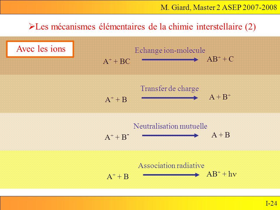 Les mécanismes élémentaires de la chimie interstellaire (2)