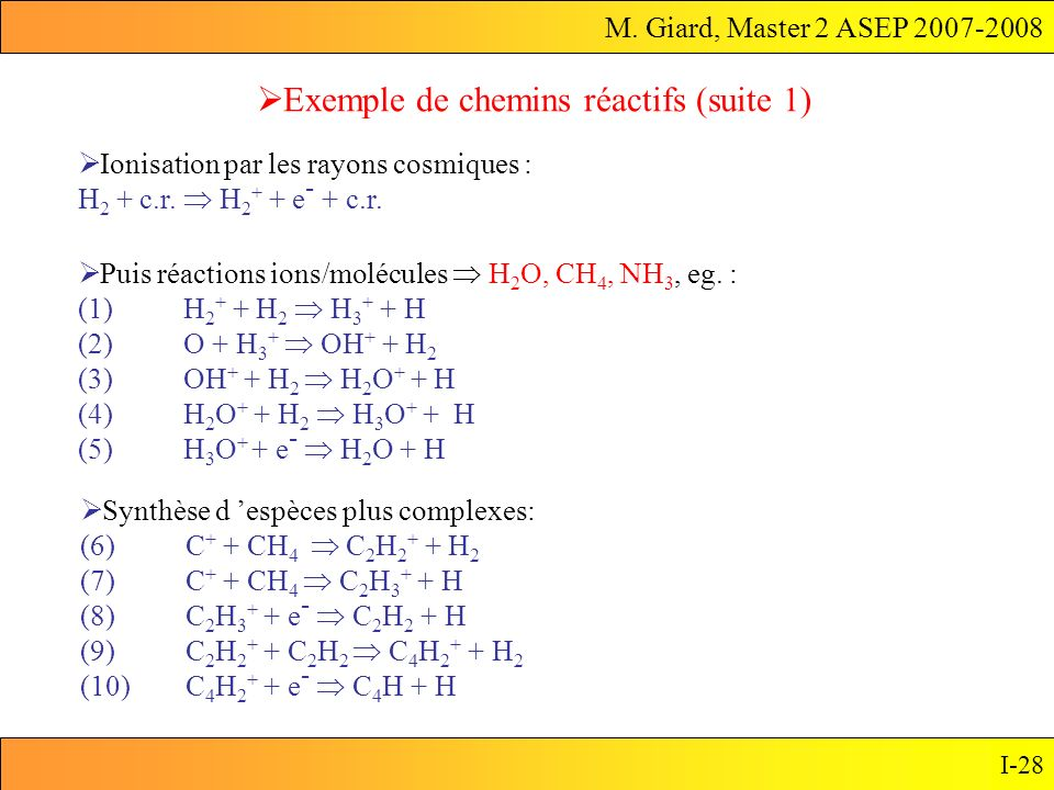 Exemple de chemins réactifs (suite 1)