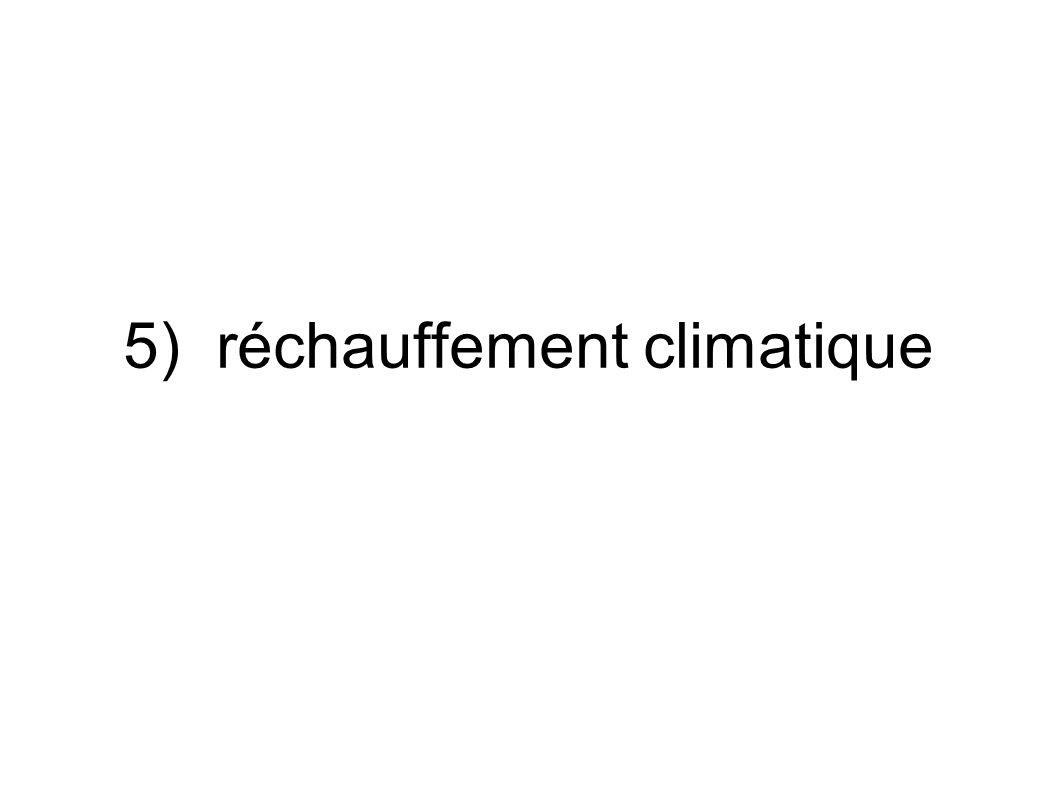 5) réchauffement climatique