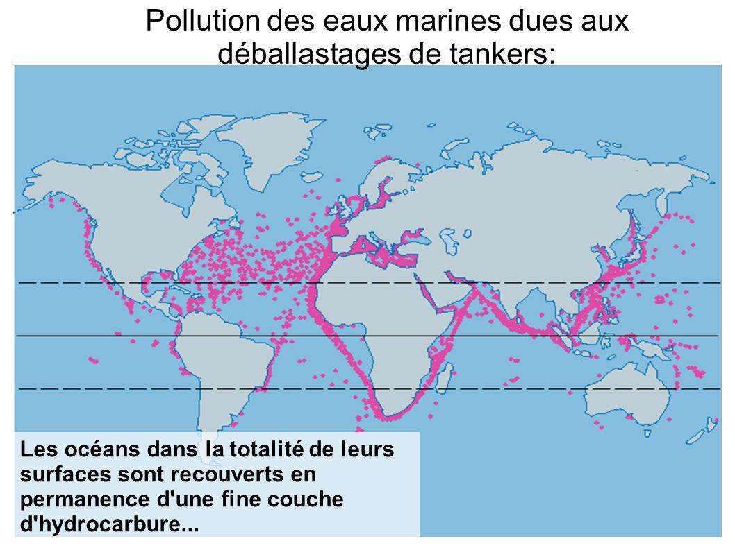 Pollution des eaux marines dues aux déballastages de tankers: