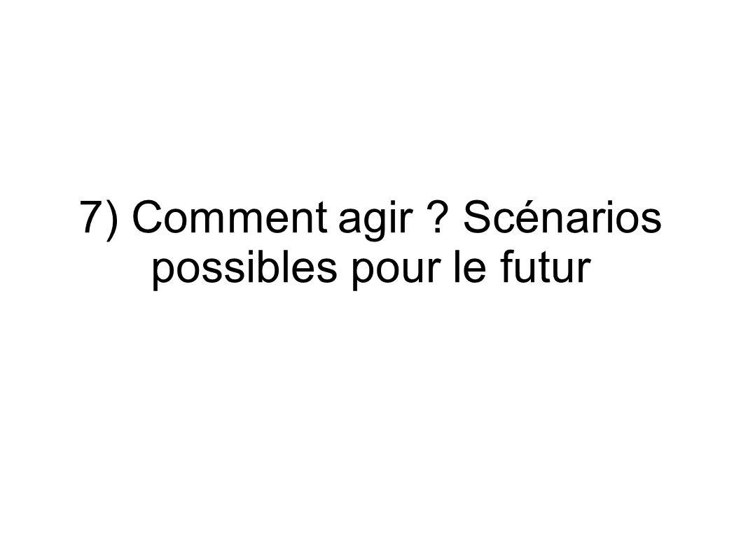 7) Comment agir Scénarios possibles pour le futur