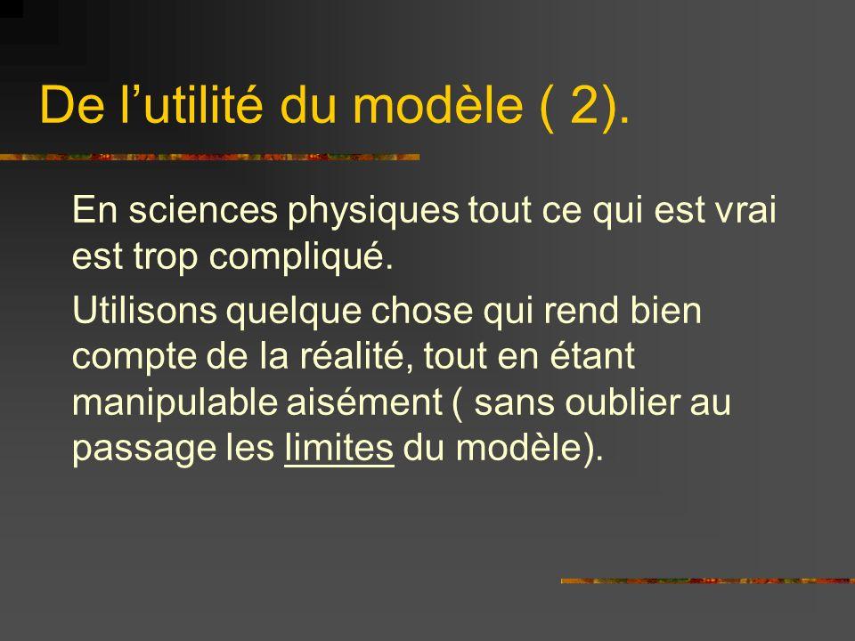 De l'utilité du modèle ( 2).