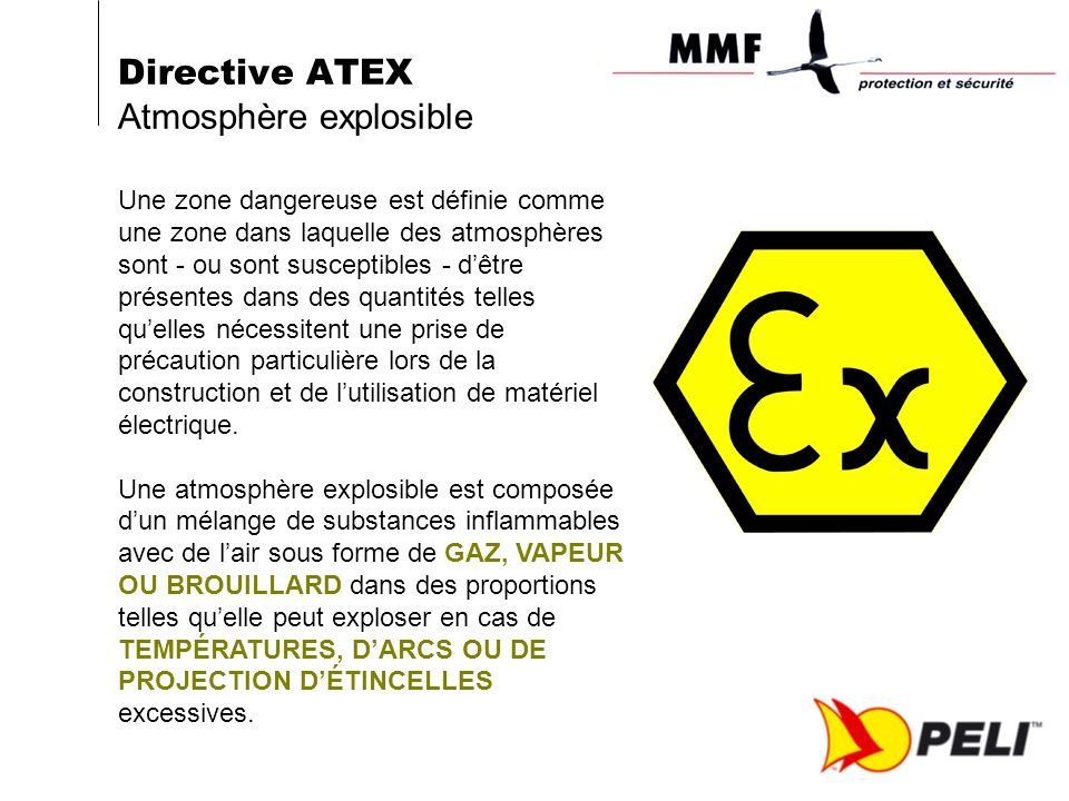 Directive ATEX Atmosphère explosible