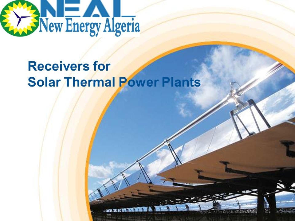 Receivers for Solar Thermal Power Plants