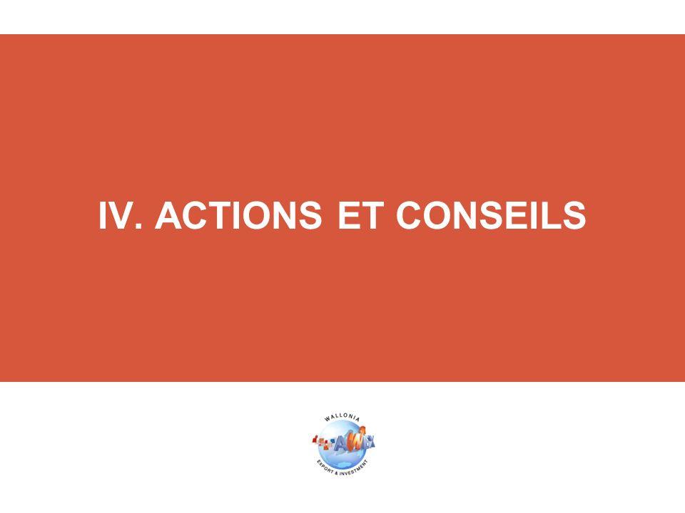 IV. ACTIONS ET CONSEILS
