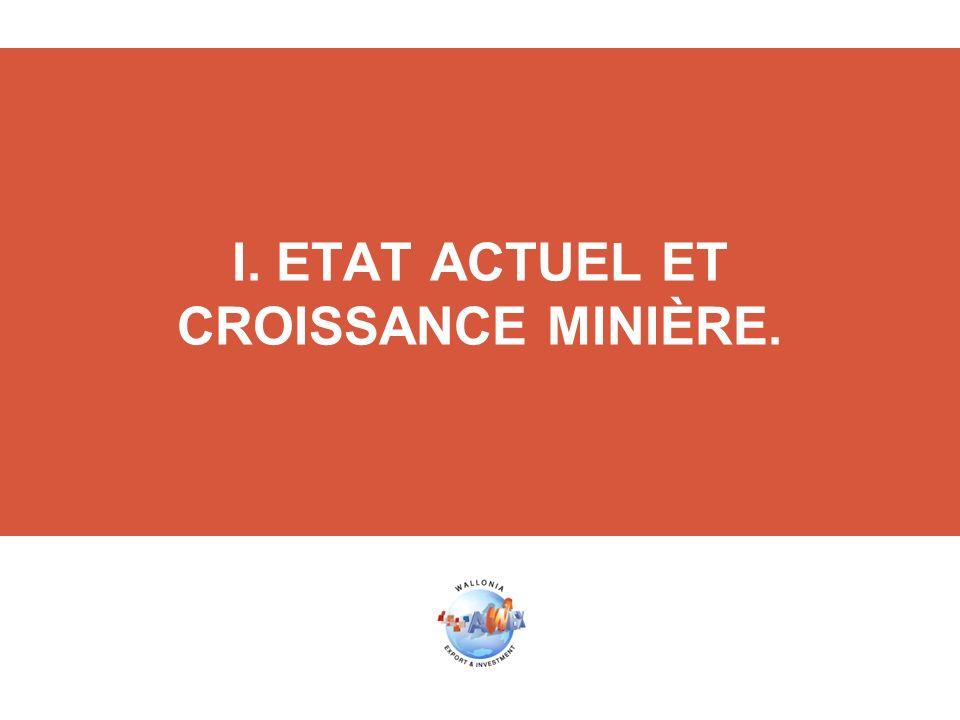 I. ETAT ACTUEL ET CROISSANCE MINIÈRE.