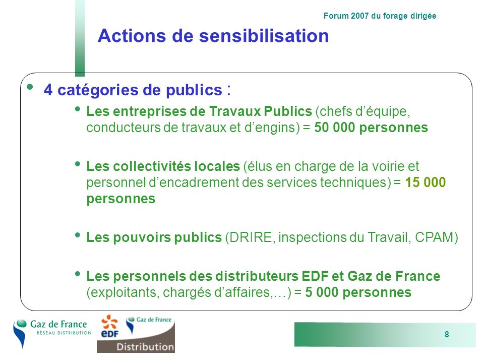 Actions de sensibilisation