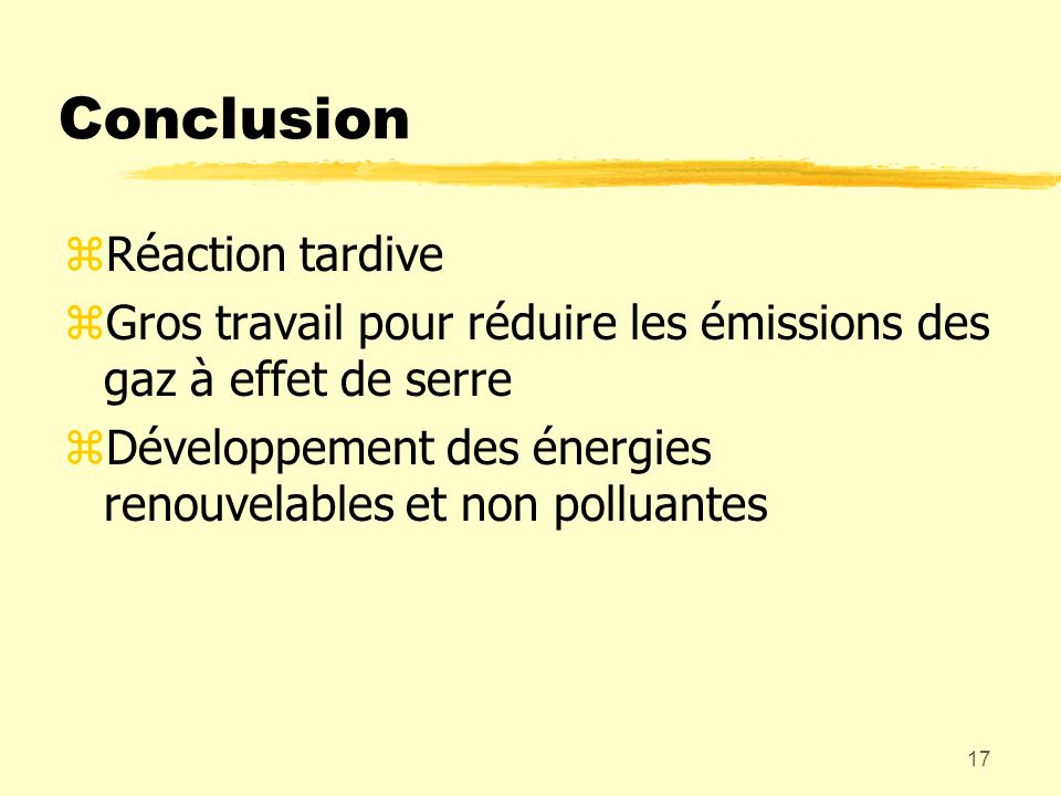 Conclusion Réaction tardive