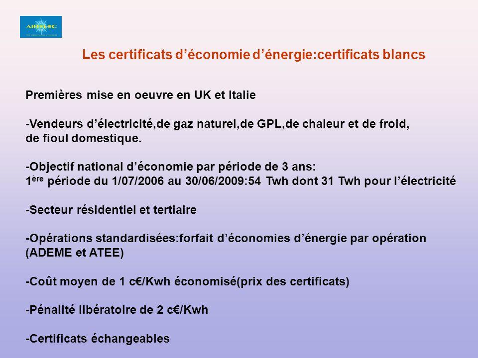 Les certificats d'économie d'énergie:certificats blancs