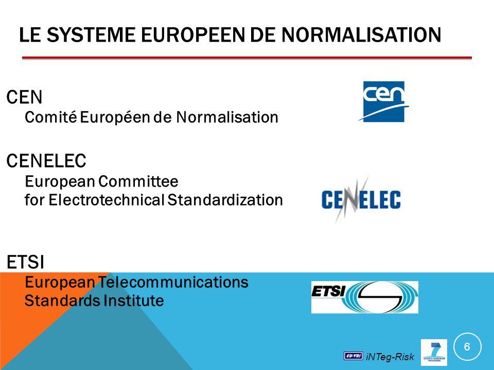 LE SYSTEME EUROPEEN DE NORMALISATION