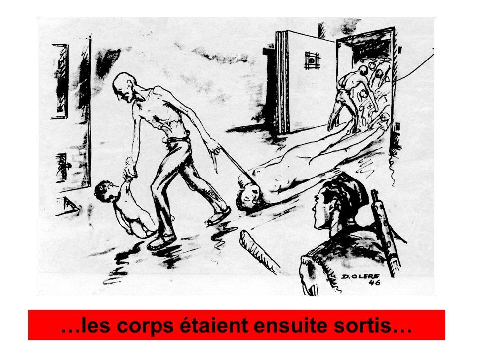 …les corps étaient ensuite sortis…